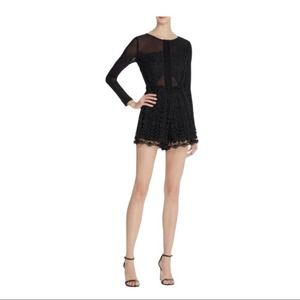 ASTR The Label Angie Long Sleeve Lace Romper M